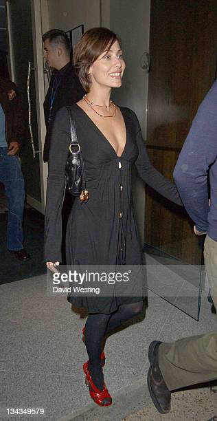 Natalie Imbruglia and her husband Daniel Johns during Natalie Imbruglia Sighting at Nobu September 4 2006 in London Great Britain