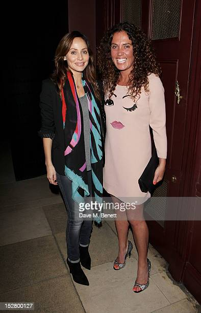 Natalie Imbruglia and Tara Smith attend a party celebrating the UK launch of Tara Smith Vegan Haircare at Sketch on September 26 2012 in London...