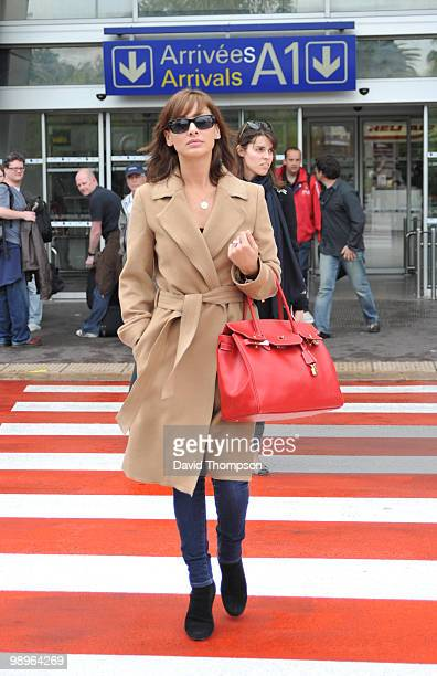 Natalie Imbruglia arrives at nice airport today on May 11 2010 in Cannes France