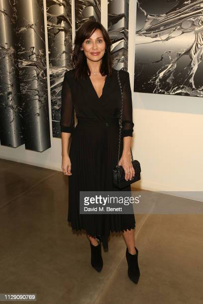 Natalie Imbruglia attends a celebratory dinner in honour of Katrin Fredrik's Grey Area exhibition at JD Malat gallery in Mayfair on March 7 2019 in...
