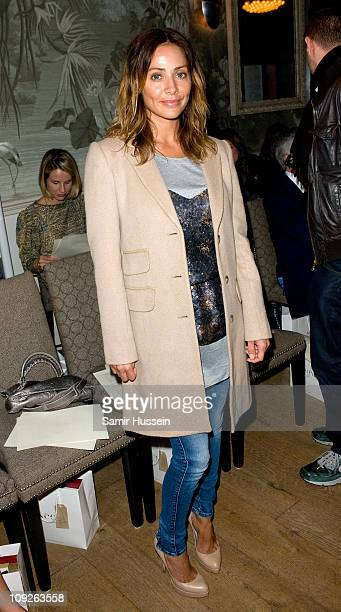 Natalie Imbruglia attends the Irwin Jordan London Fashion Week Autumn/Winter 2011 show at The Haymarket Hotel on February 18 2011 in London England