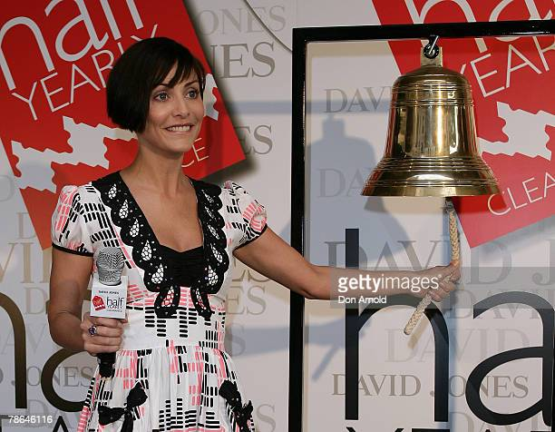 Natalie Imbruglia attends the launch of the David Jones clearance sale at the Elizabeth Street store on December 26 2007 in Sydney Australia