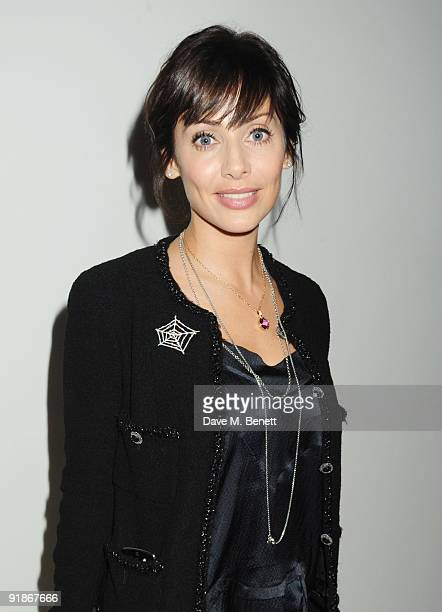 Natalie Imbruglia attends the Vogue/Bvlgari charity reception at the Saatchi Gallery on October 13 2009 in London England