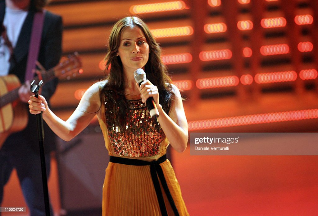 Natalie Imbruglia Performs at the Miss Italy 2005 Beauty Contest : News Photo