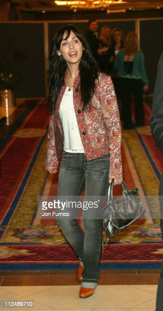 Natalie Imbruglia during The 2005 958 Capital FM Awards Inside Arrivals at Royal Lancaster Hotel in London Great Britain