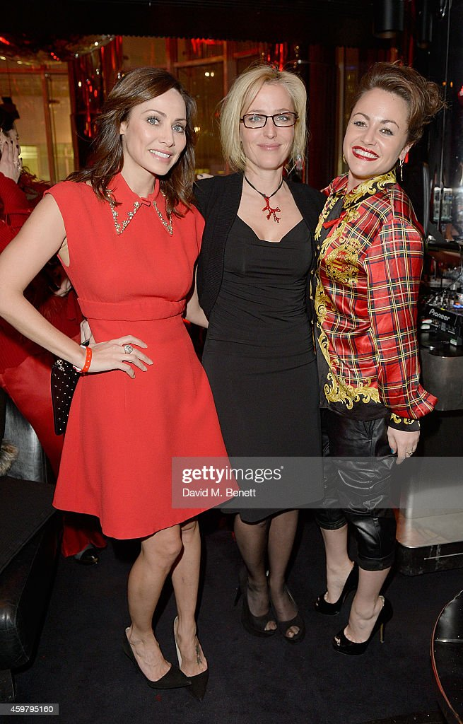 Natalie Imbruglia, Gillian Anderson and Jaime Winstone attend the W London - Leicester Square & (RED) World AIDS Day Fundraising Party at Wyld on December 1, 2014 in London, England.