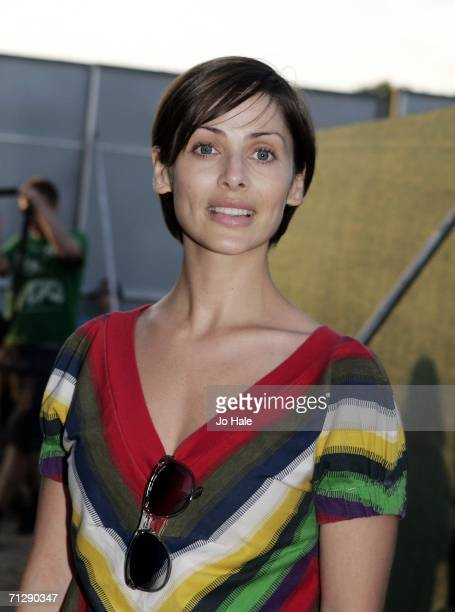Natalie Imbruglia poses backstage at the O2 Wireless Festival 2006 in Hyde Park on June 24 2006 in London England