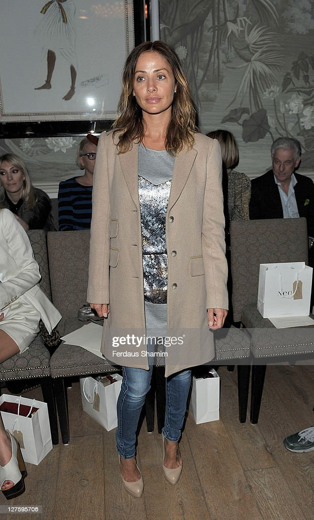 Natalie Imbruglia seen at the front row at the Irwin & Jordan show at London Fashion Week Autumn/Winter 2011 on February 18, 2011 in London, England.