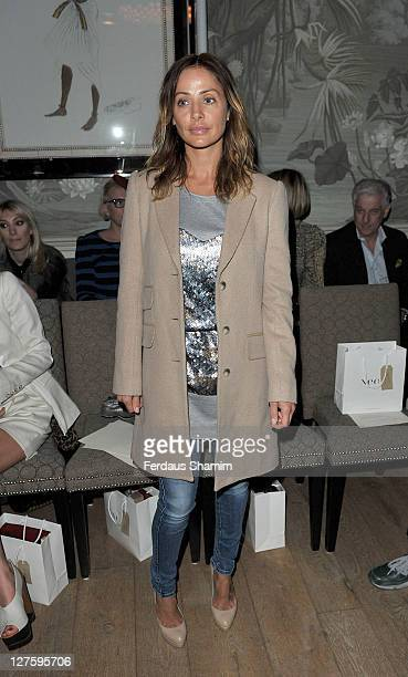 Natalie Imbruglia seen at the front row at the Irwin Jordan show at London Fashion Week Autumn/Winter 2011 on February 18 2011 in London England