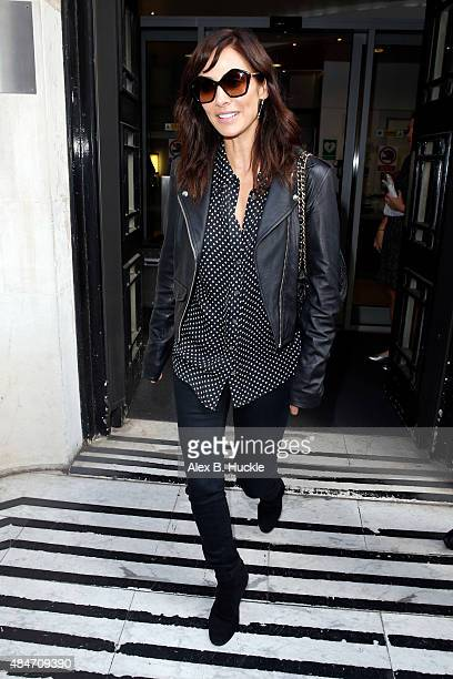 Natalie Imbruglia seen leaving the BBC Radio 2 Studios on August 21 2015 in London England
