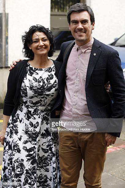 Natalie J Robb and Jeff Hordley sighted leaving the ITV Studios3 May 13 2014 in London England
