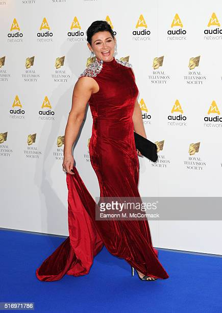 Natalie J Robb arrives for The Royal Television Society Programme Awards at The Grosvenor House Hotel on March 22 2016 in London England
