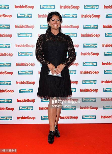 Natalie J Robb attends the Inside Soap Awards at DSKTRT on October 5 2015 in London England