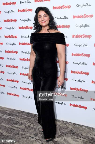 Natalie J Robb attends the Inside Soap Awards at The Hippodrome on November 6 2017 in London England