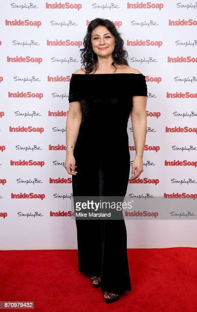 Natalie J Robb attends the Inside Soap Awards held at The Hippodrome on November 6 2017 in London England