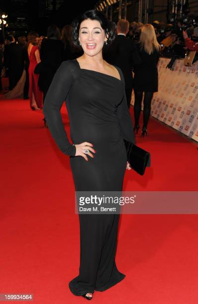 Natalie J Robb attends the the National Television Awards at 02 Arena on January 23 2013 in London England