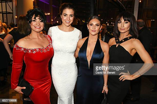 Natalie J Robb Gemma Atkinson Chelsea Halfpenny and Roxy Shahidi attends the National Television Awards cocktail reception at The O2 Arena on January...