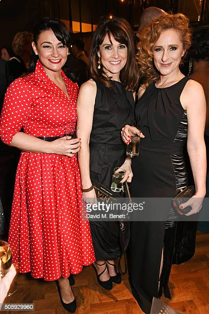 Natalie J Robb Gillian Kearney and Nicola Stephenson attend the 21st National Television Awards at The O2 Arena on January 20 2016 in London England