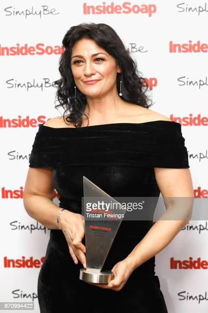 Natalie J Robb winner of the award for Sexiest Female attends the Inside Soap Awards held at The Hippodrome on November 6 2017 in London England