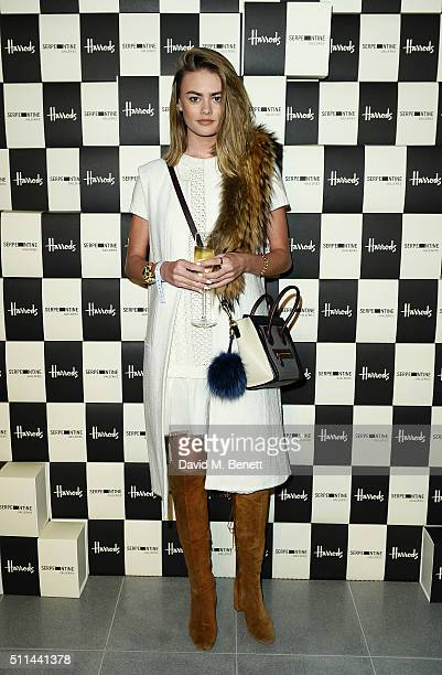 Natalie Joel attends the Serpentine Future Contemporaries x Harrods Party 2016 at The Serpentine Sackler Gallery on February 20 2016 in London England