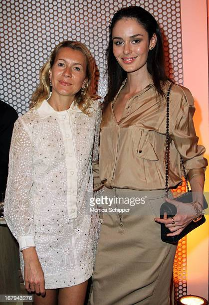 Natalie Joos and Nicole Trunfio attend Roy Lichtenstein Barneys New York Limited Edition Collection Launch Event at Barneys New York on May 2 2013 in...
