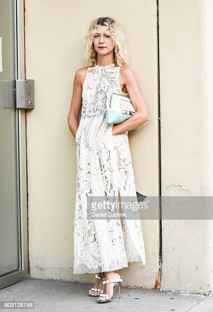 Natalie Joos is seen outside the Prabal Gurung show during New York Fashion Week Spring 2017 on September 11 2016 in New York City