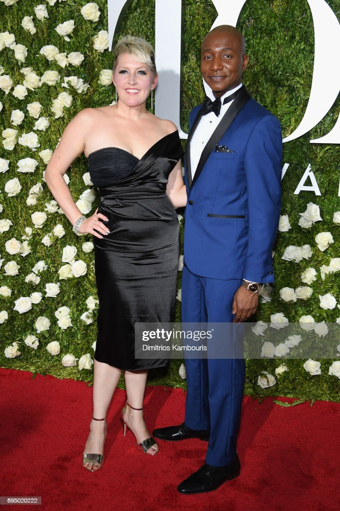 Natalie Joy Johnson and Kevin Smith Kirkwood attend the 2017 Tony Awards at Radio City Music Hall on June 11, 2017 in New York City.
