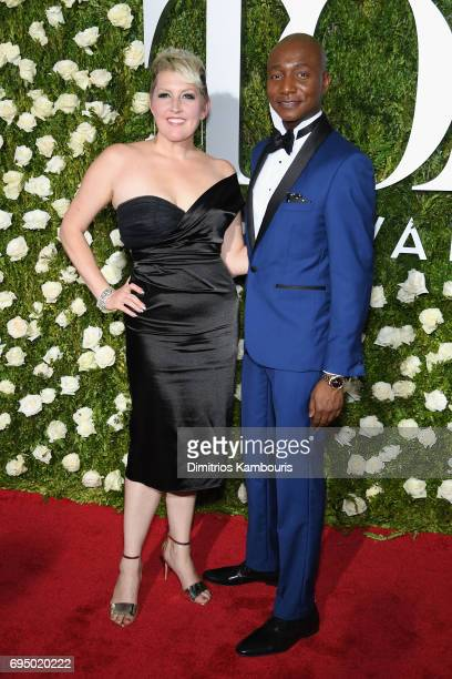 Natalie Joy Johnson and Kevin Smith Kirkwood attend the 2017 Tony Awards at Radio City Music Hall on June 11 2017 in New York City