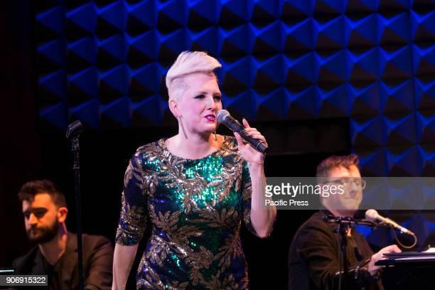 JOE'S PUB NEW YORK UNITED STATES Natalie Joy Johnson performs at Joes Pub Low Hanging Naturals with Brian Nash Jeremy Yaddaw Joel Waggoner Dylan...