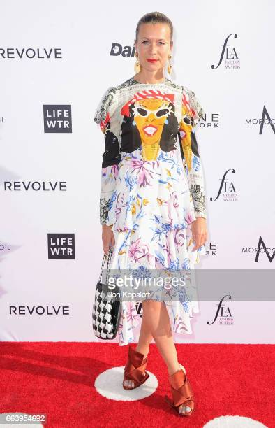 Natalie Jus arrives at the Daily Front Row's 3rd Annual Fashion Los Angeles Awards at the Sunset Tower Hotel on April 2 2017 in West Hollywood...