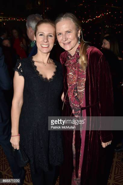Natalie Kaplan and Gigi Mortimer attend A Christmas Cheer Holiday Party 2017 Hosted by George Farias Anne and Jay McInerney at The Doubles Club on...