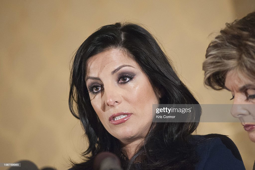 Natalie Khawam speaks during the Gloria Allred News Conference With Natalie Khawam at Ritz-Carlton Hotel on November 20, 2012 in Washington, DC.