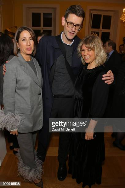 Natalie Kingham Mark Holgate and Jess Christie attends 'An Evening of German Fashion' at the German Embassy on February 19 2018 in London England