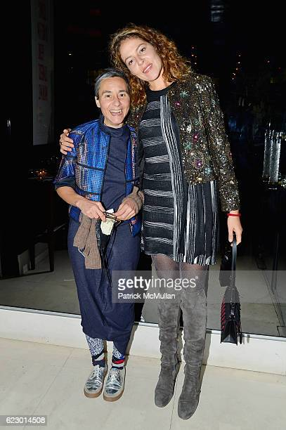 Natalie Kovacs and Lola Schnabel attend The Warhol Dinner @ MR CHOW at Mr Chow in Tribeca on November 12 2016 in New York City