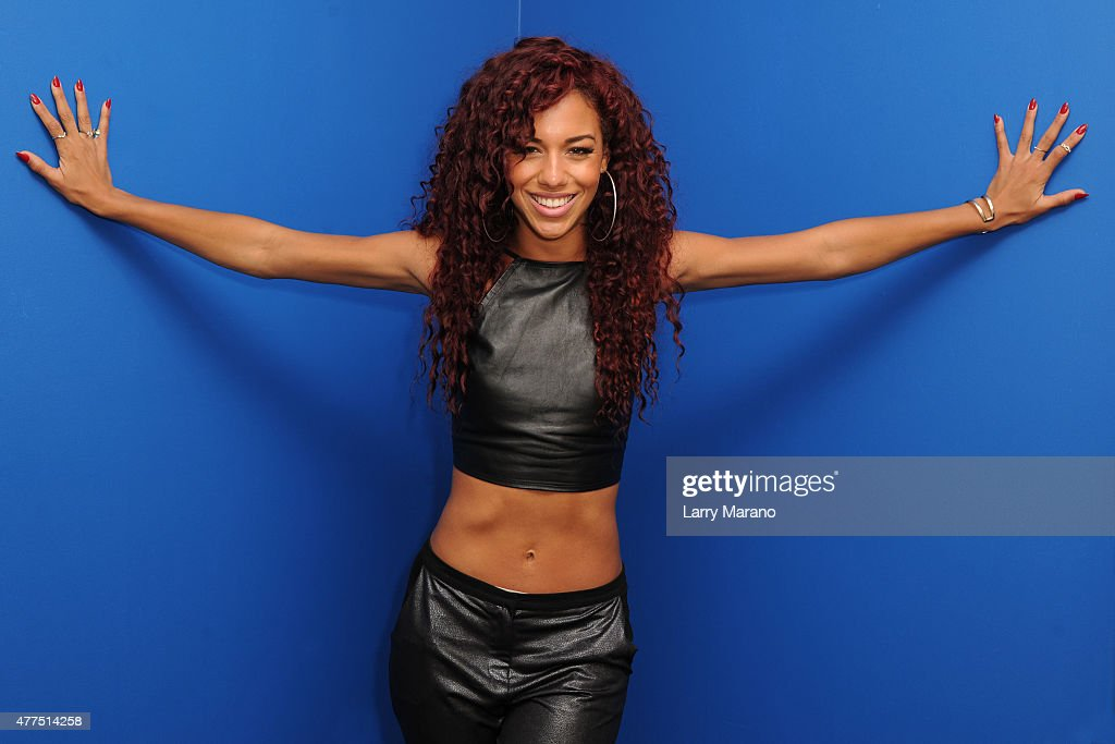 Natalie La Rose Visits Y 100 Radio Station
