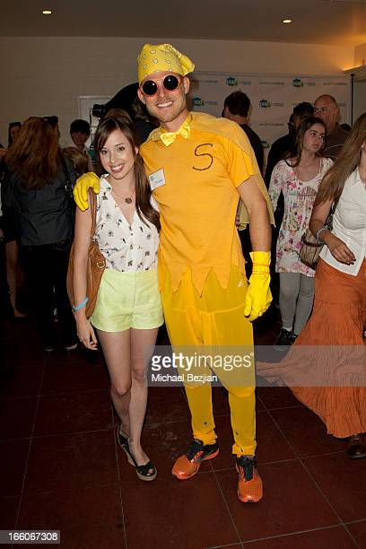 Natalie Lander and Travis attend Playground Of Dreams Presents The Coolest Variety Show On Earth on April 6 2013 in Los Angeles California