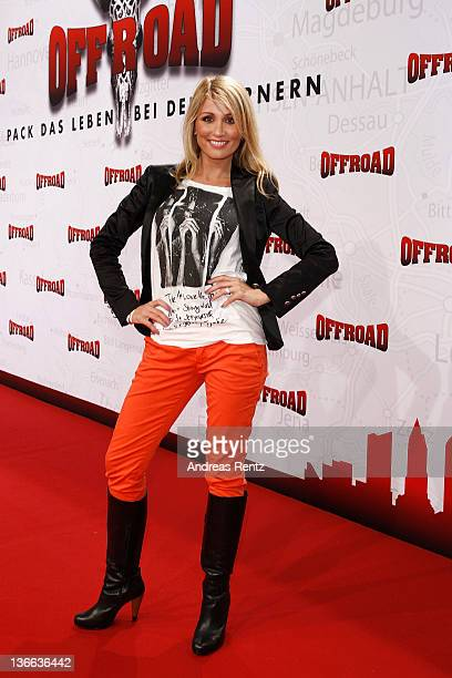 Natalie Langer attends the 'Offroad' premiere at cinema Kulturbrauerei on January 9 2012 in Berlin Germany