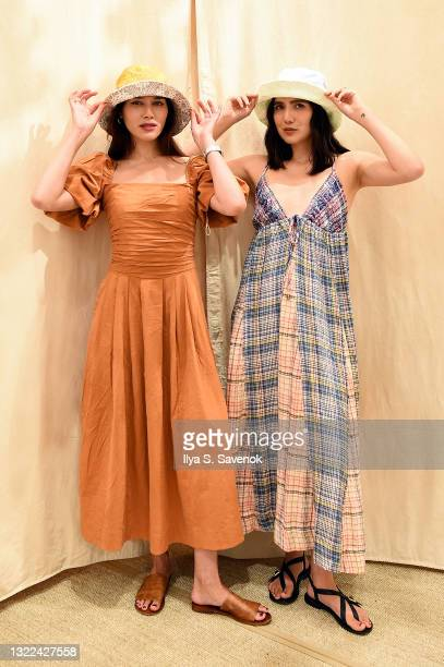 Natalie Lim Suarez and Dylana Lim Suarez host the Free People x Nordstrom NYC Center Stage Launch Event on June 07, 2021 in New York City.
