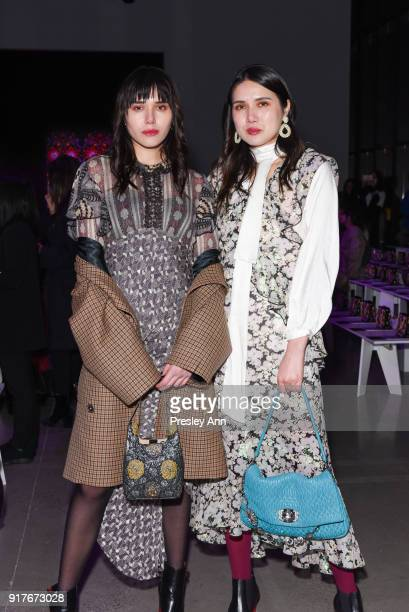 Natalie Lim Suarez and Dylana Suarez attend Anna Sui Front Row February 2018 New York Fashion Week at Spring Studios on February 12 2018 in New York...