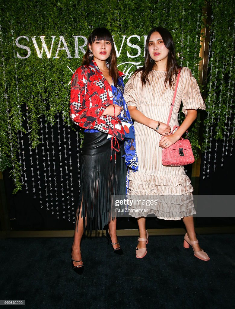 Natalie Lim Suarez and Dylana Suarez attend the 2018 CFDA Fashion Awards' Swarovski Award For Emerging Talent Nominee Cocktail Party at DUMBO House on May 16, 2018 in New York City.