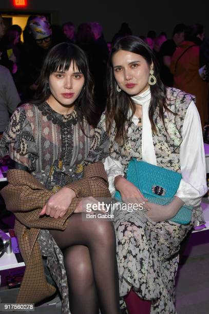 Natalie Lim Suarez and Dylana Suarez attend the Anna Sui fashion show during New York Fashion Week The Shows at Gallery I at Spring Studios on...
