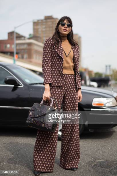 Natalie Lim Suarez is seen attending Coach during New York Fashion Week wearing Coach on September 12 2017 in New York City