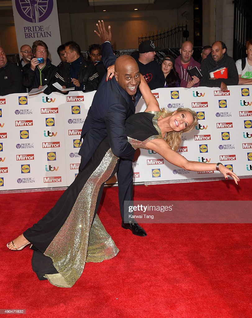 Natalie Lowe and Ainsley Harriott attend the Pride of Britain awards at The Grosvenor House Hotel on September 28, 2015 in London, England.