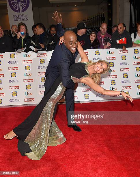 Natalie Lowe and Ainsley Harriott attend the Pride of Britain awards at The Grosvenor House Hotel on September 28 2015 in London England