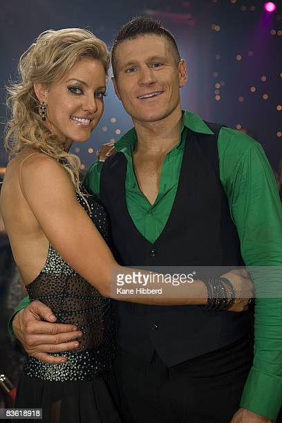 Natalie Lowe and Danny Green at the grand final event for Dancing With The Stars 2008 at the Channel Seven studios on November 8 2008 in Melbourne...
