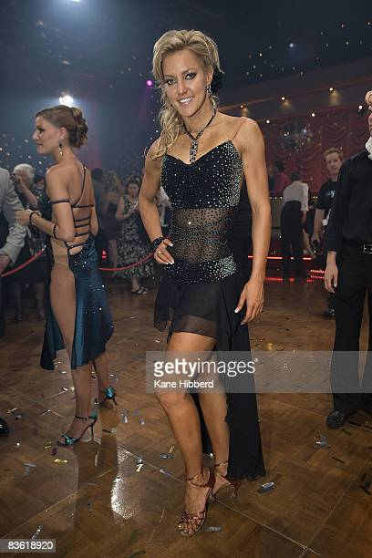 Natalie Lowe arrives for the grand final event for Dancing With The Stars 2008 at the Channel Seven studios on November 8 2008 in Melbourne Australia