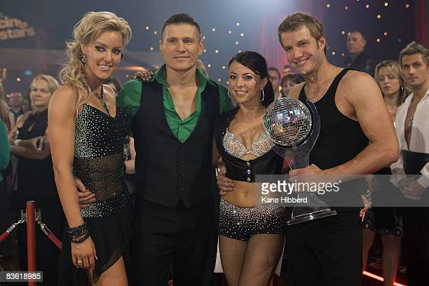 Natalie Lowe Danny Green Luda Kroitor and Luke Jacobz at the grand final event for Dancing With The Stars 2008 at the Channel Seven studios on...