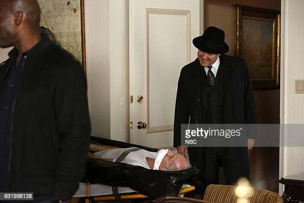 THE BLACKLIST Natalie Luca Episode 412 Pictured Jeff Williams as Myron Gordon James Spader as Raymond Red Reddington