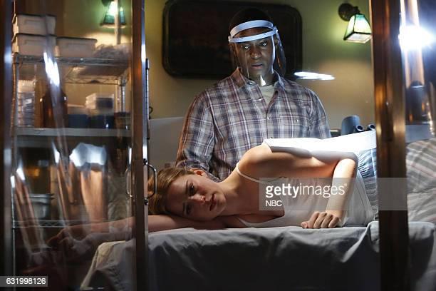 THE BLACKLIST Natalie Luca Episode 412 Pictured RJ Brown as Malik Roumain Elizabeth Lail as Natalie Luca