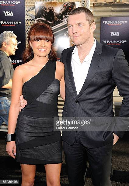"""Natalie Mark and actor Sam Worthington arrives at the premiere of Warner Bros. """"Terminator Salvation"""" at Grauman's Chinese Theatre on May 14, 2009 in..."""